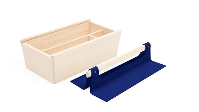 Harto 'Louisette' tool box in Realistic Blue, $159, from [Clickon Furniture](http://www.clickonfurniture.com.au/)