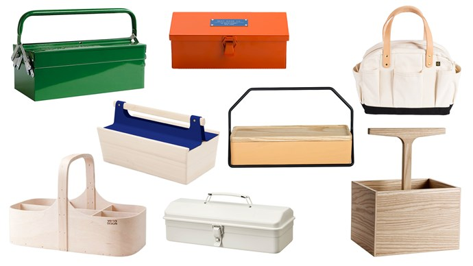 Put an end to searching through cluttered drawers with these nine pretty and practical toolboxes. Gallery complied by Jessica Hanson.