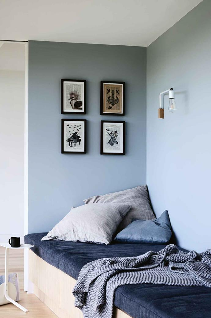 "A favourite spot for grandchildren to sleep is [on a day bed](https://www.homestolove.com.au/daybed-ideas-19586|target=""_blank"") in a little alcove, while one of the new bedrooms, entered only from an external walkway, is also sometimes used as overflow accommodation."