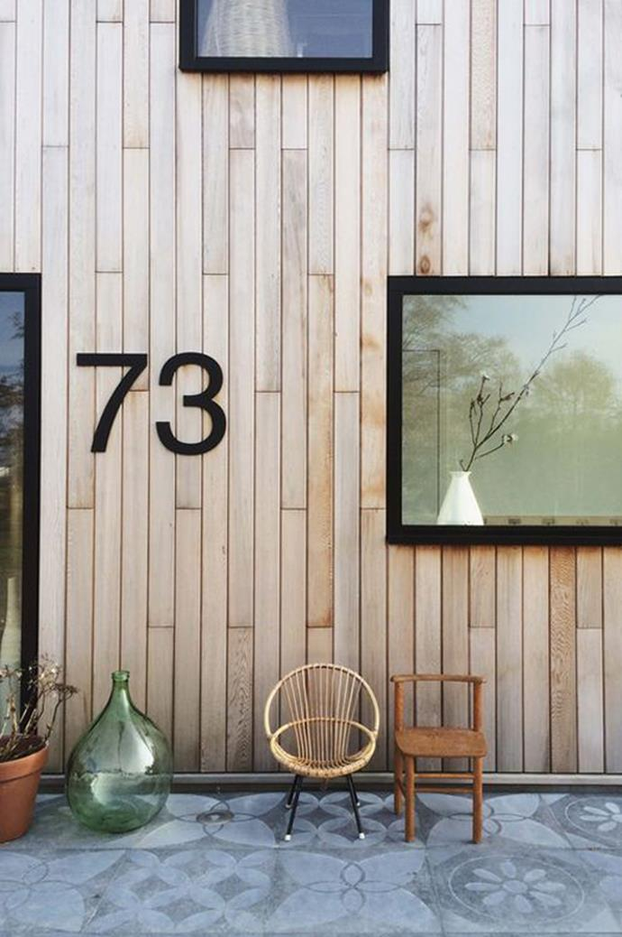 3\. Jazzy house numbers. Numbers needn't be boring – investing in oversized or custom-made house numbers is like giving your house a bespoke bowtie. _Image via [Over the Ocean](https://www.overtheocean.com/)_