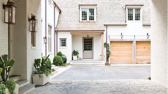 4\. Statement garage door. If your garage is front-facing, then a garage door with a little extra flair will not only up your street appeal but your bottom dollar come appraisal time too. _Image via [Becki Owens](http://beckiowens.com/)_