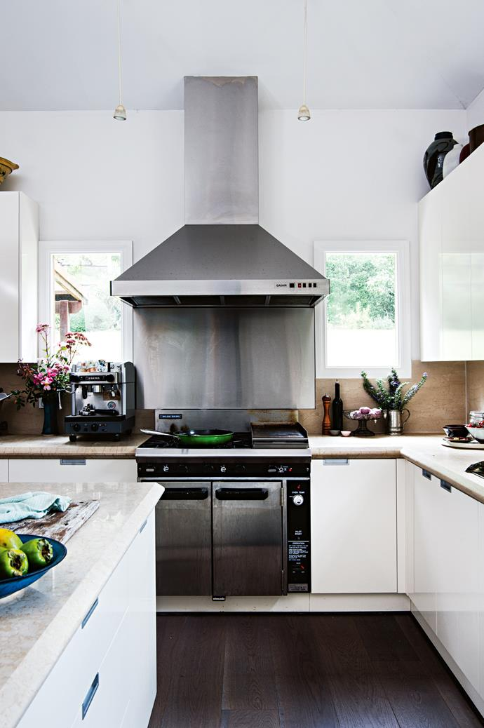 A Blue Seal commercial stove gets plenty of use in the kitchen.