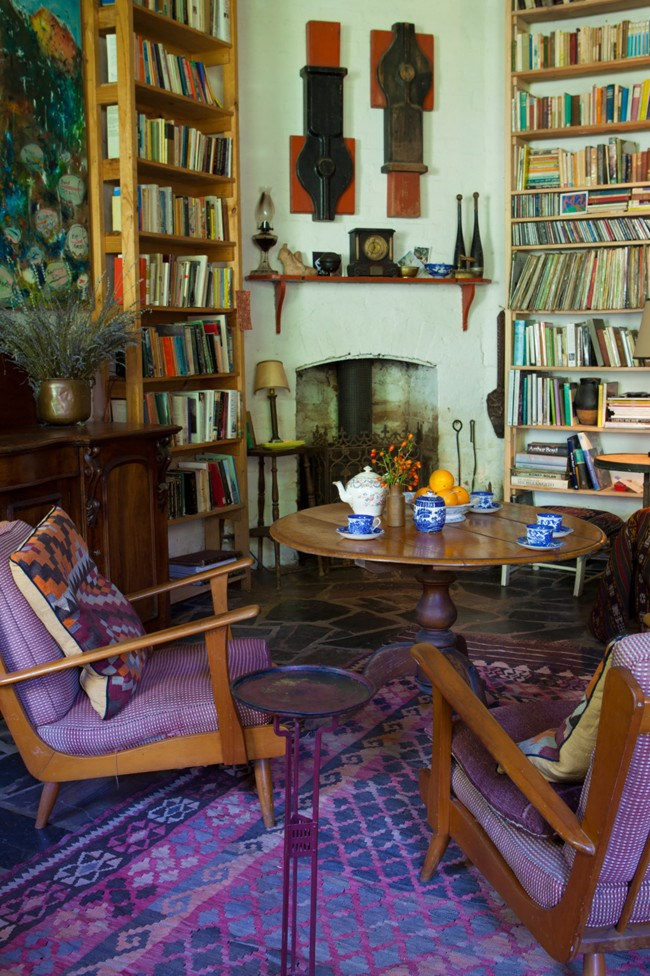 The collection of books and chairs in the sitting room.  | Photo: Simon Griffiths
