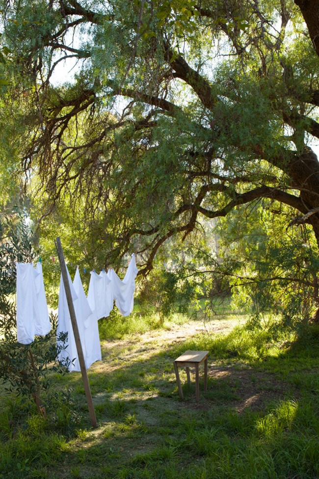 Washing drying in the breeze.  | Photo: Simon Griffiths