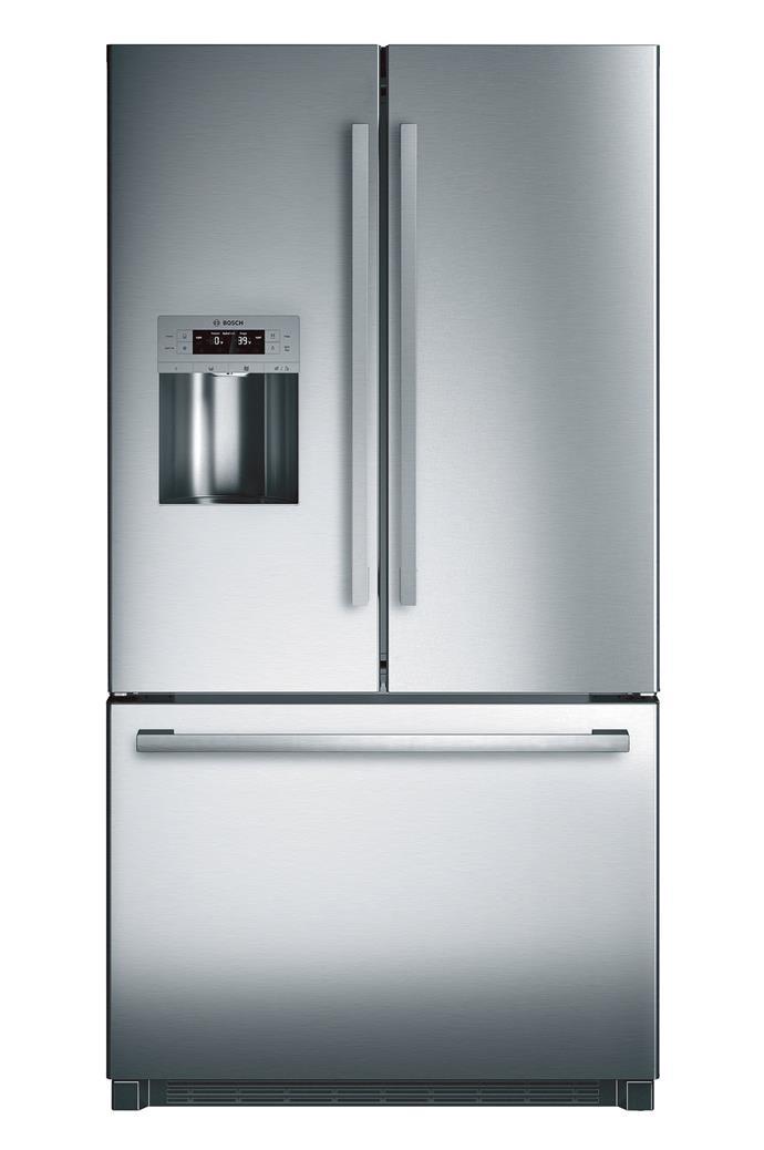 Serie 8 'KFN91PJ10A' fridge-freezer, $4499, [Bosch](http://www.bosch-home.com.au/)