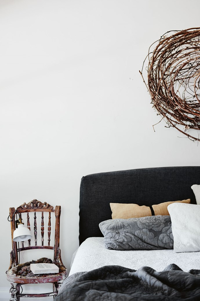 """One of Kate's wire and grapevine [handmade wreaths](https://www.homestolove.com.au/how-to-make-a-christmas-wreath-4376