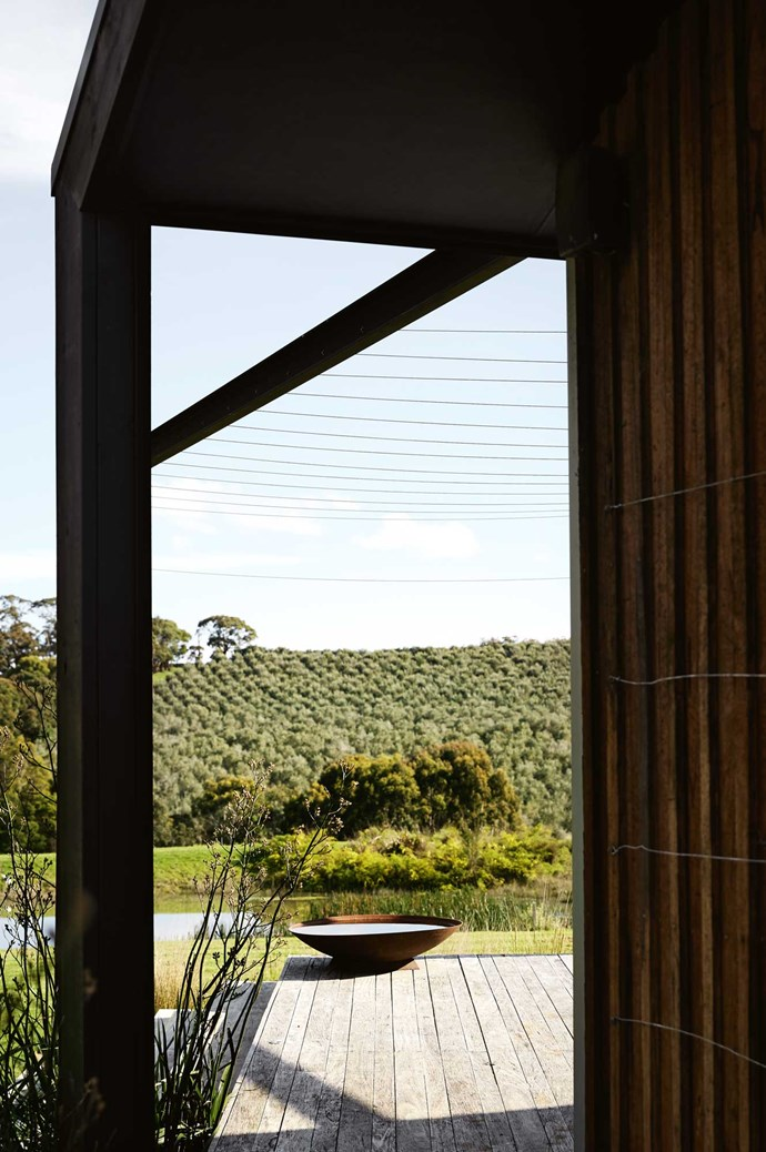 """A view of the olive grove from the [bed and breakfast](https://www.homestolove.com.au/best-central-victoria-boutique-hotels-19652