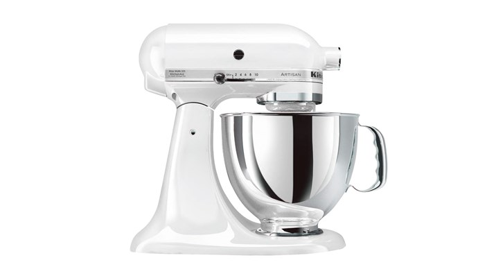 KitchenAid 'Artisan Stand' mixer in White, $745, [Harvey Norman](http://www.harveynorman.com.au/)