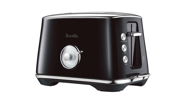 Breville 'Toast Select Luxe' toaster in Salted Liquorice Black, $199, [The Good Guys](https://www.thegoodguys.com.au/)