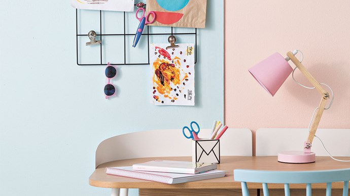 Sometimes it can be tricky to display the constant stream of beautiful work that comes home from day care. These ideas are simple, affordable, and, most importantly, changeable.