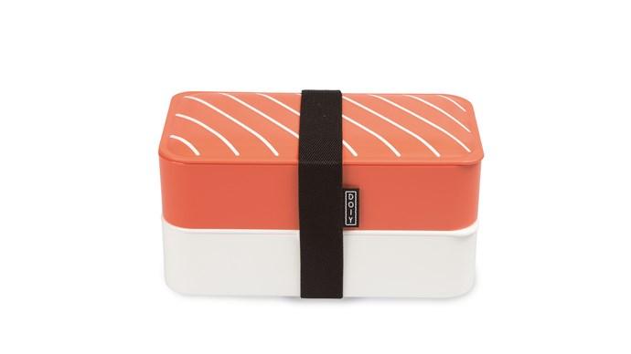 Doiy 'Nigiri Bento' lunch box, $39.95, [Until](http://www.until.com.au/)