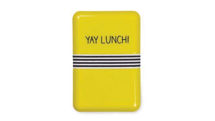 Happy Jackson lunch box in Yellow, $20, [Leo & Bella](http://leoandbella.com.au/)