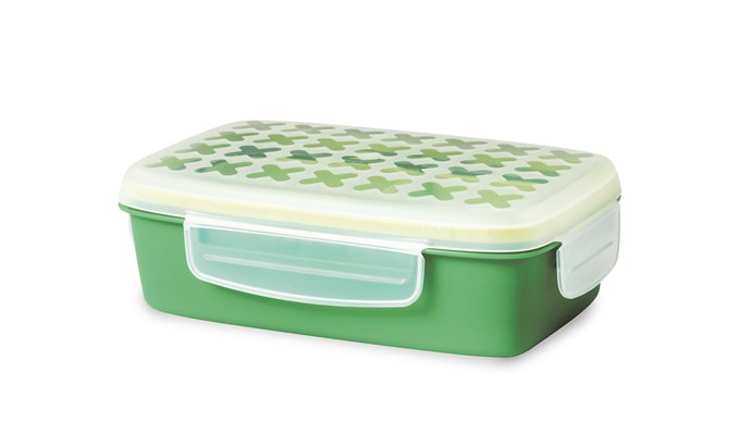 'Festmaltid' lunch box in Green, $5.99, [IKEA](http://www.ikea.com/au/en/)