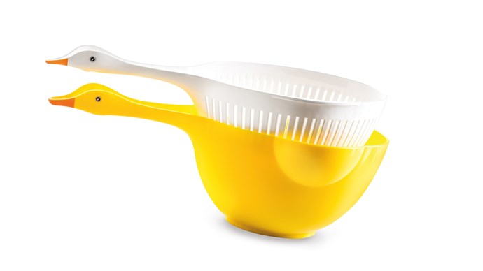 German-made kitchenware so cool it flew south for winter. Donkey Products 'Goosey' colander and bowl set, $44.95, [Until](http://www.until.com.au/)