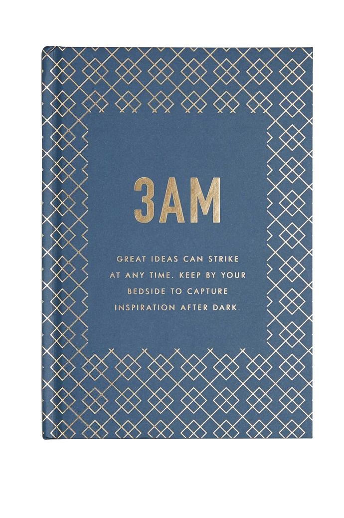 Who needs sleep anyway? Now you can press 'save' when all those brilliant nocturnal brainwaves keep you awake. '3AM' journal, $16.95, [Kikki.K](https://www.kikki-k.com/)