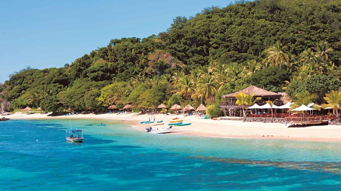 Fiji. It's a popular family destination for a reason – safe, easy, affordable, with friendly nannies on hand and all-inclusive resorts that make budgeting a no-brainer. There are countless resorts, from basic budget places with bure style accommodation to lavish five-star hotels. Some good options include [Mantaray Island Resort](https://mantarayisland.com/), [Castaway Island, Fiji](http://castawayfiji.com/), [Outrigger Fiji Beach Resort](https://www.outrigger.com/) and the [Jean-Michel Cousteau Resort](https://www.fijiresort.com/). The major resorts usually have excellent kids' clubs where you can leave the littlies to enjoy games and activities while you indulge in a beach massage. | Photo: Alamy