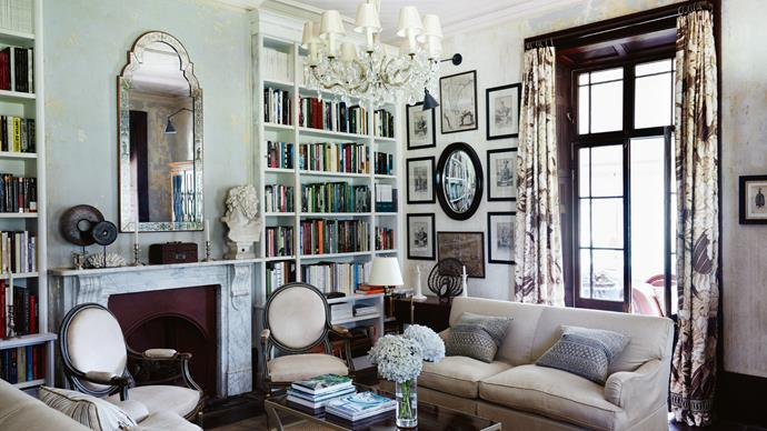 "A lifetime's collection of books is used like works of art to line walls in the formal [sitting room and library](https://www.homestolove.com.au/best-home-library-designs-3504|target=""_blank""). ""There are 65 boxes of books there,"" says Darryl with a laugh. ""It took me two days to unpack them!"""