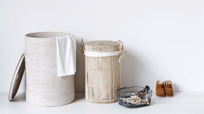 3. Laundry. Tossing clothes into laundry and ironing baskets is nothing new, but there are other things you can do with baskets to make washing and ironing a little more organised and much more attractive, as well as keeping laundry staples neat and tidy and close to hand. Creating a basket for ironing is a useful idea, too.