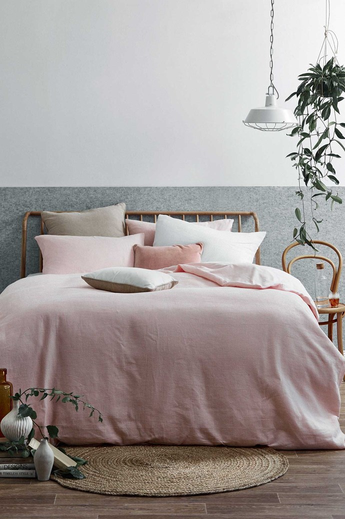 "1\. Choose your palette. Finding a colour scheme that matches your personality can be easier said than done. Carefully consider whether you want your bedroom to be a neutral place to relax or a colour-rich space that evokes creativity. ""I'm a sucker for heavenly, white bedding,"" says T&W Head of Styling [Jessica Bellef](https://www.jessicabellef.com/), ""Especially when it's elevated with a subtle detail, like a frayed edge [quilt cover](https://www.templeandwebster.com.au/daily-sales/Bed-by-T%26W~E9812.html?refid=TWB). The beauty of a white quilt set is its versatility – with the addition of a printed cushion or a coloured sheet set you can easily change the look of your space."" A subtle colour scheme is perfect if you want your bedroom to be an inviting space to wind down. Apart from white, greys – from pale dove to smoky charcoal – are another popular neutral base to build your bedroom. Blush pink or rich indigo are also great neutral colours to weave in for a really on-trend look. Photography Denise Braki and styling Jonathan Fleming and Allira Bell for [Temple & Webster](https://www.templeandwebster.com.au/)"