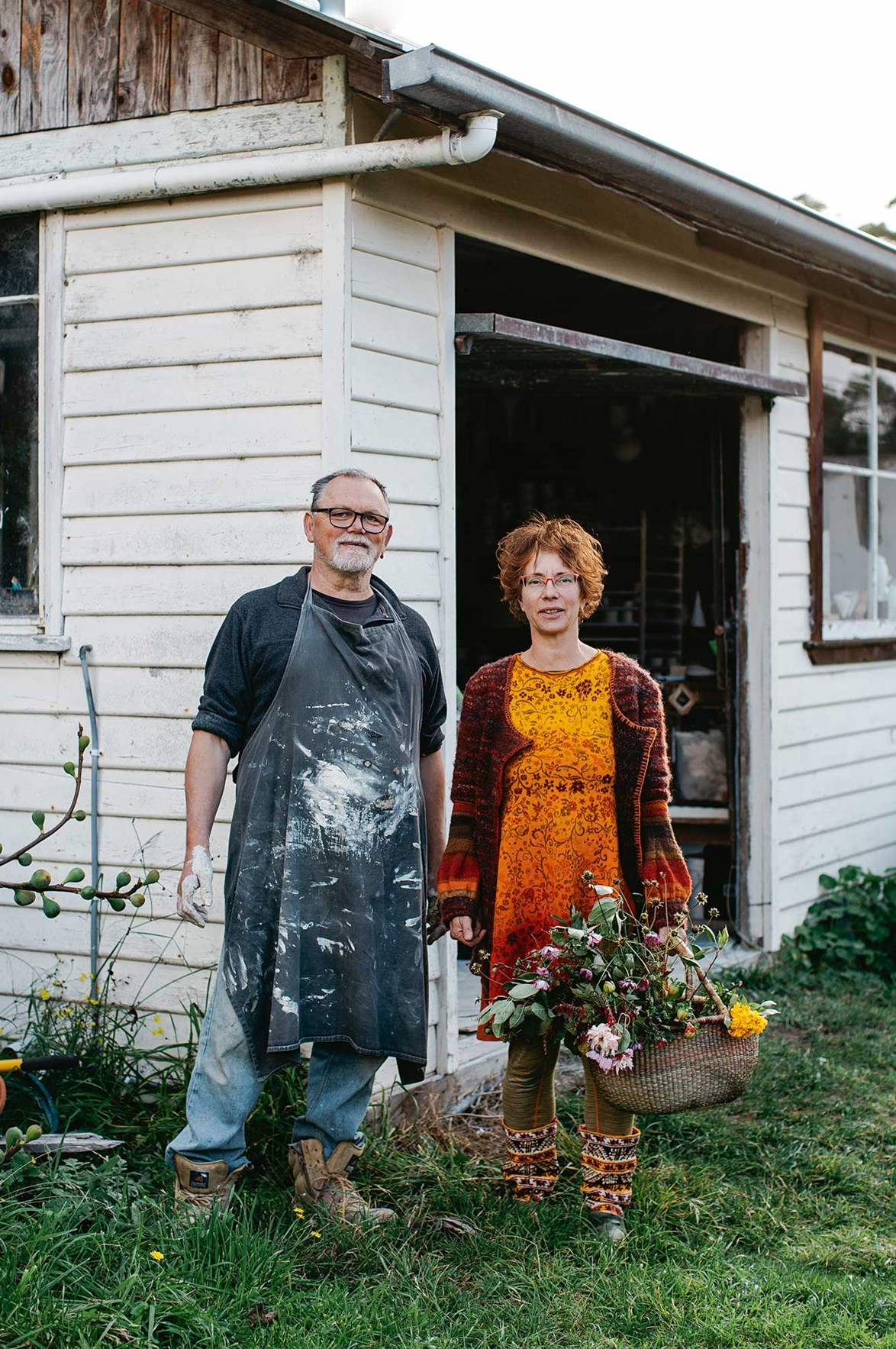 """We want to live a simple life,"" says Zsolt, with Nanna."