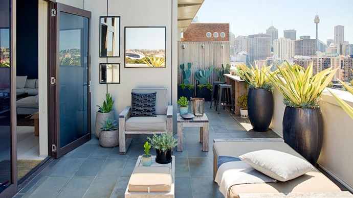 2. If you're re-vamping your outdoor space, it's a good idea to de-clutter first. Only keep the plants, pots and furniture which contribute towards making your space the perfect outdoor sanctuary, and don't cram things in as it will only make your space look smaller.