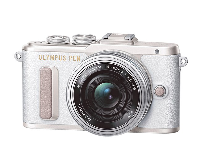 2\. 'PEN E-PL8' digital camera in White, $899, from [Olympus](https://www.olympus.com.au/).