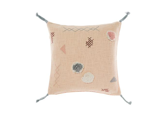 7\. 'Otis' cushion in Peach, $59.95, from [Linen House](https://www.linenhouse.com.au/).