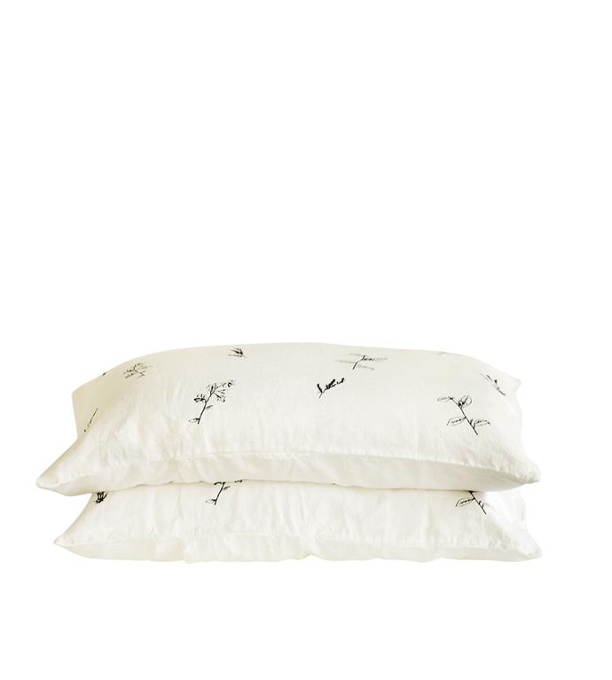 6\. 'Botanical' pillowcases in Shell, about $90 each, from [Father Rabbit](https://fatherrabbit.com/).