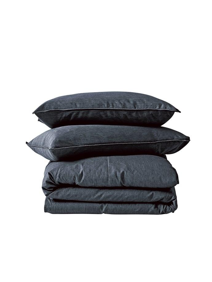 6\. Queen-size denim bed linen set, $299, from [Aura by Tracie Ellis](https://www.aurahome.com.au/).