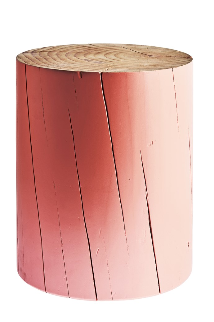 5\. Cylinder stool in Meadow Pink, $600, by [Mark Tuckey](www.marktuckey.com.au/).