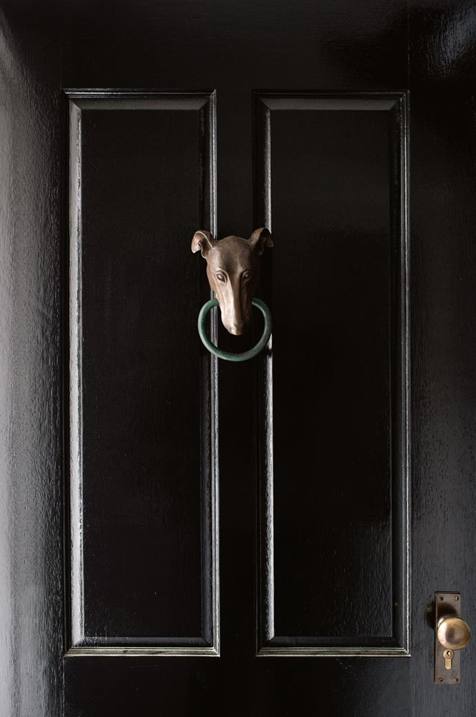 In a sweet gesture towards her whippets, Kasturi found this doorknocker on Etsy.