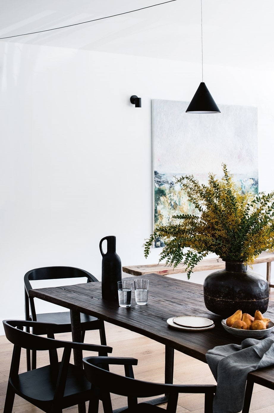 """The beauty of a [modern farmhouse](https://www.homestolove.com.au/modern-australian-farmhouse-design-21558