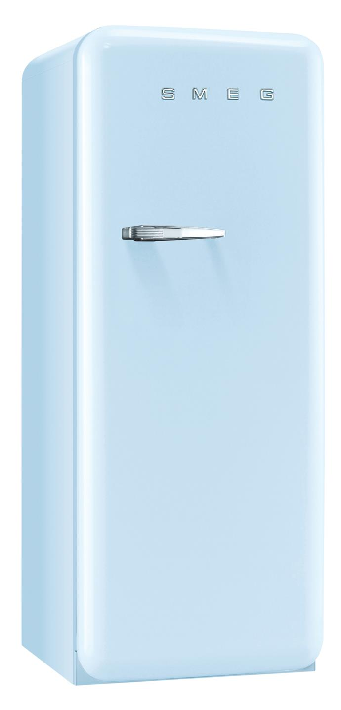 Let your fridge express its true colours with an ice-blue exterior. 'FAB28' refrigerator in Pale Blue, $4490, from [Smeg Australia](http://www.smeg.com.au/).