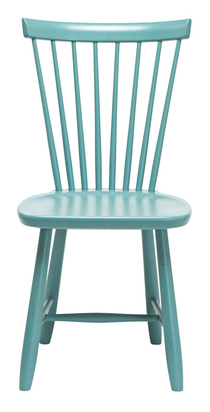 Rather than stay safe with neutral furniture, be brave and make a statement with mint-coloured seats. Stolab 'Lilla Aland' chair, $600, from [Thonet](http://www.thonet.com.au/).