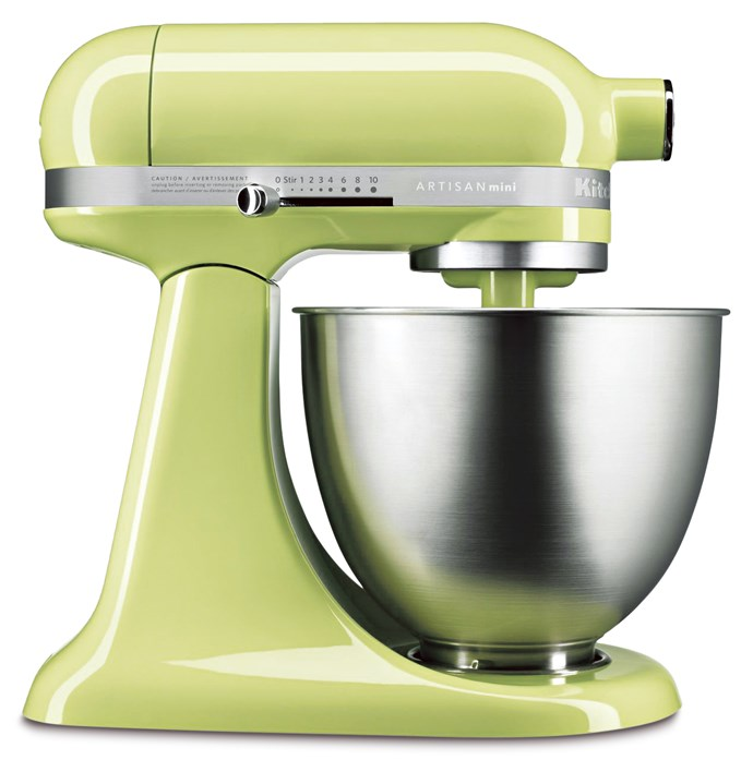 Add a dash of whimsy to your baking with a coloured mixer. 'Mini' stand mixer in Honeydew, $799, from [KitchenAid](https://kitchenaid.com.au/).