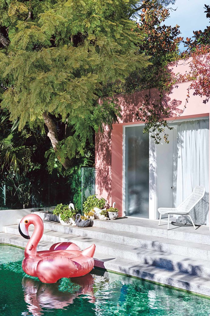 Freshen up your outside areas with a lick of paint. Exterior wall in 'Weathershield' low-sheen exterior paint in Cuticle Pink, $74.90 for 4L, from [Dulux](https://www.dulux.com.au/). | Photo: Lisa Cohen