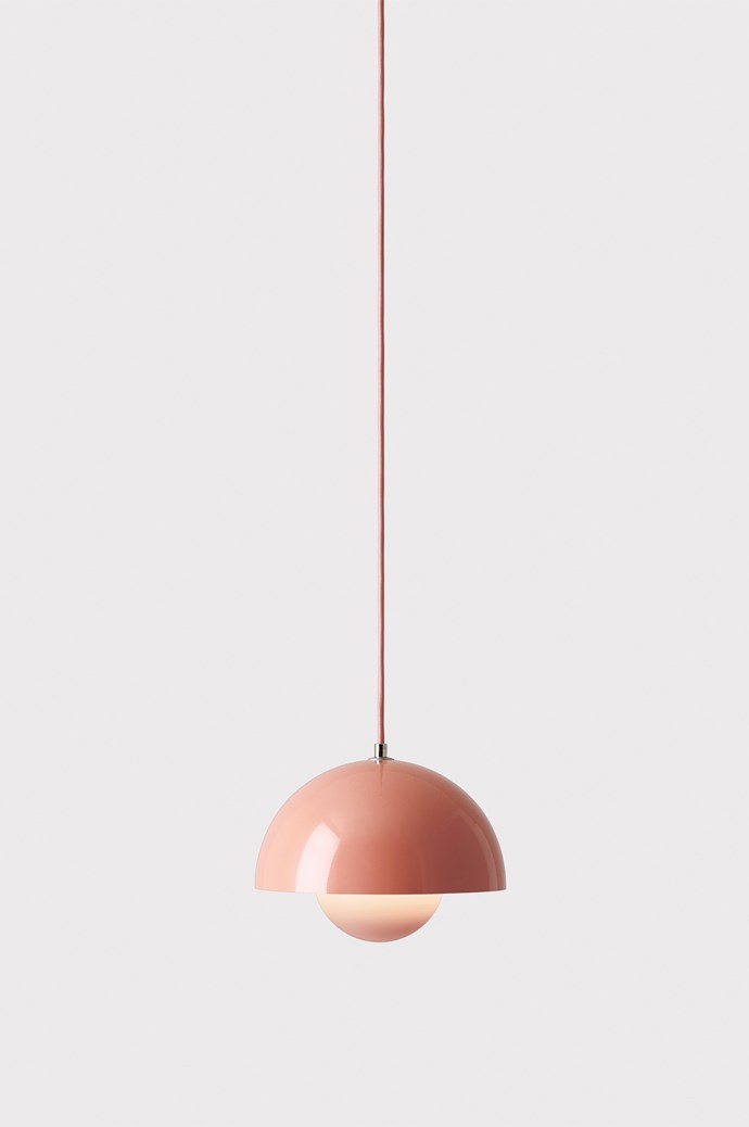 This rounded light will soften your interiors. 'Flowerpot' pendant VP1 light in Beige Red, POA, from [Great Dane](https://greatdanefurniture.com/).
