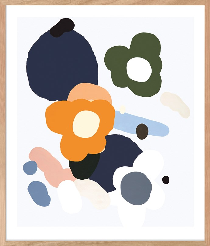 Bring the outside in with floral artwork. Aster 4 limited-edition print by Kirra Jamison, $1100 (unframed), from [Contemporary Editions](https://www.contemporaryeditions.com.au/).