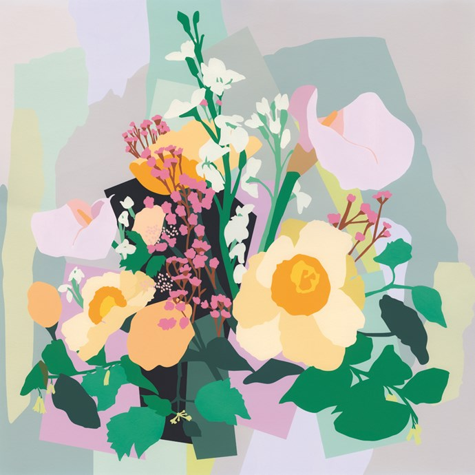 Green thumb gene pass you by? Go for flowers that never wilt. London Flowers print by Leah Bartholomew, $230, from [Greenhouse Interiors](https://greenhouseinteriors.com.au/).