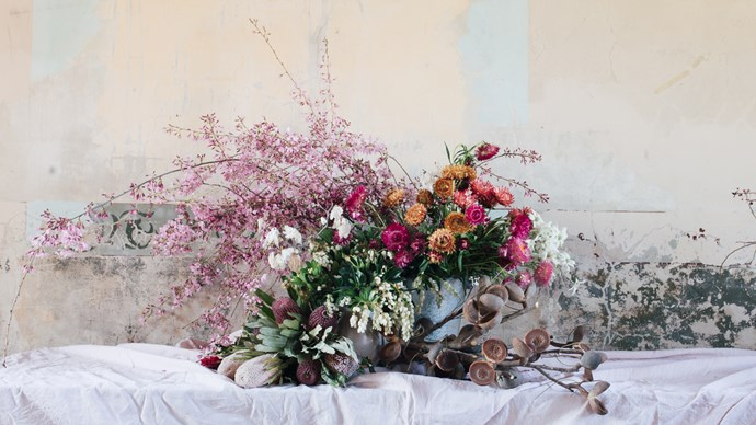 This tangle of Spring blooms from local gardens was the photographic centerpiece of the recent My Open Kitchen Writing and Photography workshop with Country Style editor, Victoria Carey and writer, Annabelle Hickson at the Old Convent nearOrange.   Photo: Annabelle Hickson