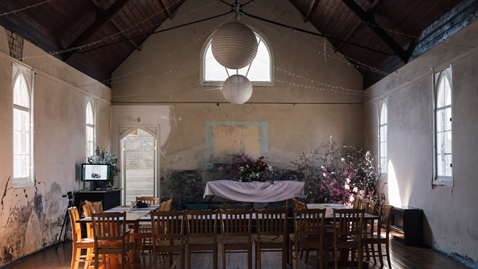 The hall at Jose Chapman's Old Convent is available for public functions and events throughout the year and is the stage for My Open Kitchen photography, food and writing workshops about four times each year.   Photo: Annabelle Hickson