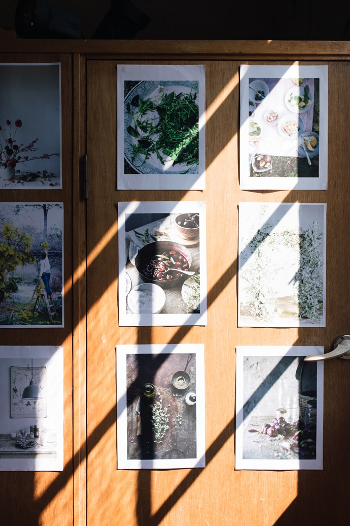 As a source for inspiration, beautiful images were pinned up on the wall to demonstrate various photographic angles, techniques and styling tips.    Photo: Annabelle Hickson