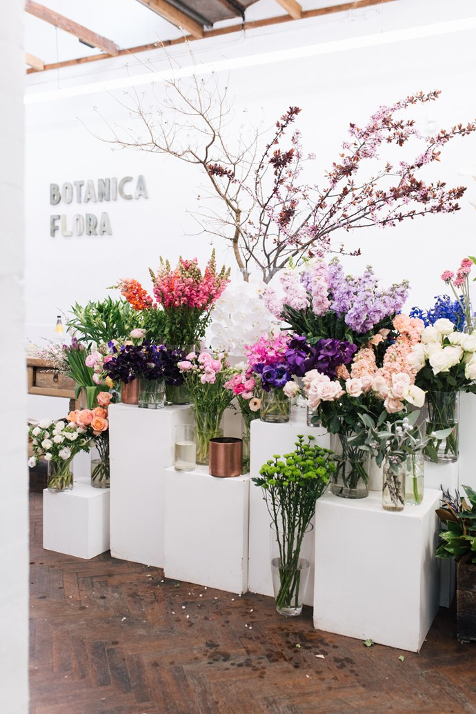 Flowers for the workshop were sourced from Libby Spencer's florist Botanica Flora in its new space, 'The Collective' on Lords Place, Orange. The Collective also houses Good Eddy coffee shop and clothing retailer, Belle Armoire.   Photo: Annabelle Hickson