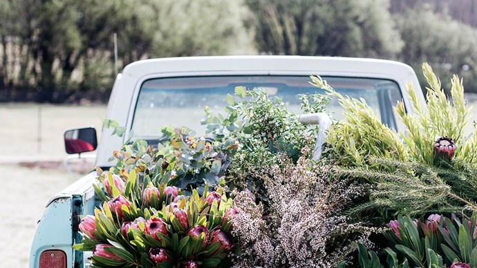 In the Monaro region of NSW, Gabrielle Merrigan's shop, [The Flower Pantry](https://www.theflowerpantry.com/), is always well-stocked for those with a hankering for seasonal blooms, natives, potted plants and art. At Christmastime, the florist and her family share their gratitude for another successful year, and say it with flowers. | Photo: Abbie Melle