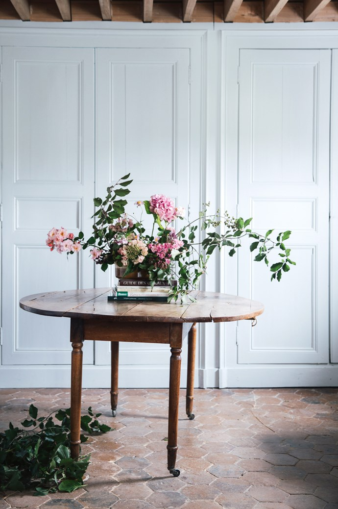 """Guests took part in a flower arrangement class. When asked why people would sign up to a workshop holiday, Flore says, """"In a world where we feel showered with information, having the courage to go out there, learn something new and meet 'real' people can be liberating.""""  