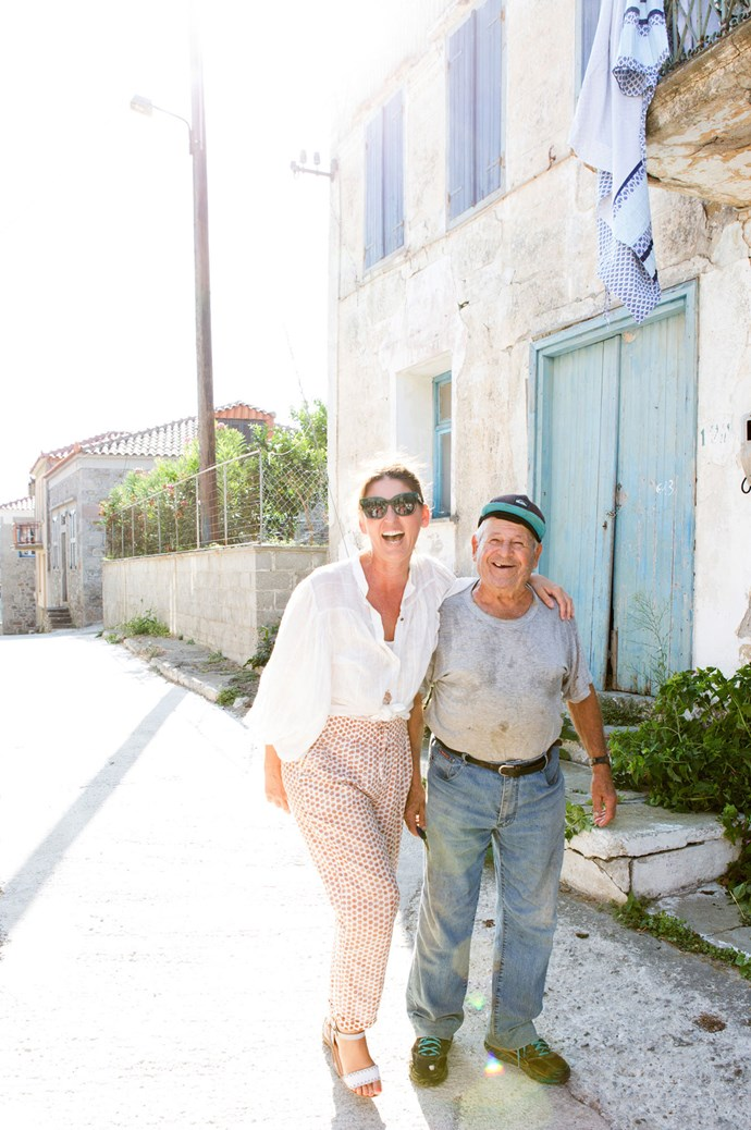 Sometimes it takes an entire village to complete the picture. To dance the Zorba under the stars with newfound friends, contact Paula Hagiefremidis for information on upcoming Retreats to the Greek islands [here](http://mediterraneanwanderer.com/). | Photo: Carla Coulson
