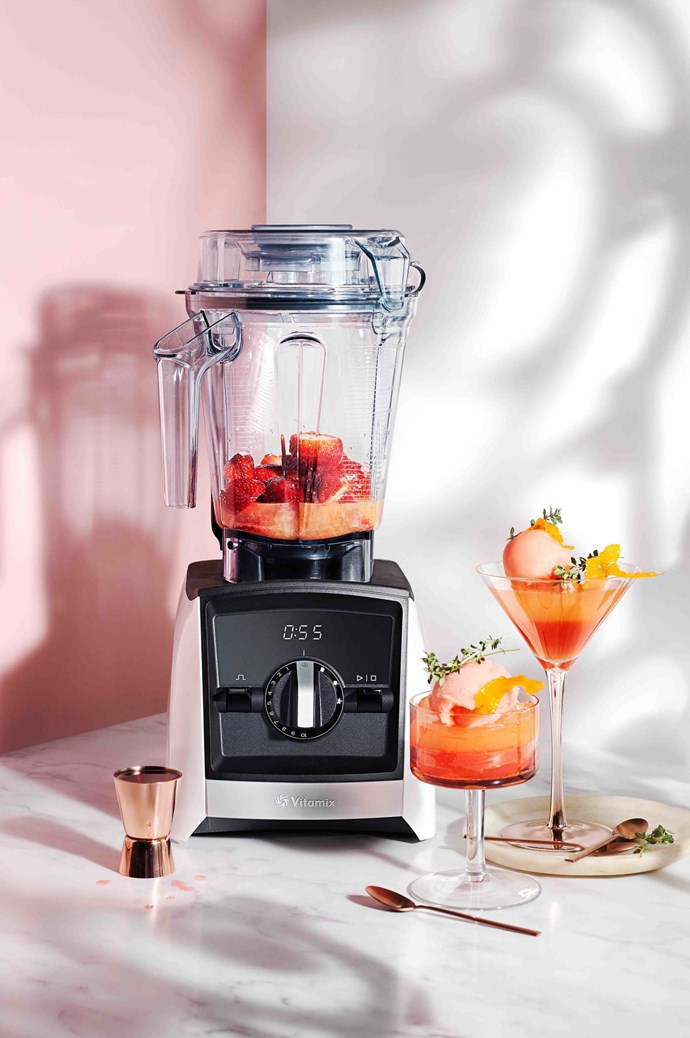 """A good quality blender is a must for summer,"" says Victoria. ""Whip up smoothies, sorbets, cocktails… and don't forget the garnish ¬– I love a sprig of fresh rosemary or a colourful edible flower."" With Vitamix Ascent A25001 Blender in white (063211), $1195, available at [Harvey Norman](https://www.harveynorman.com.au/)."