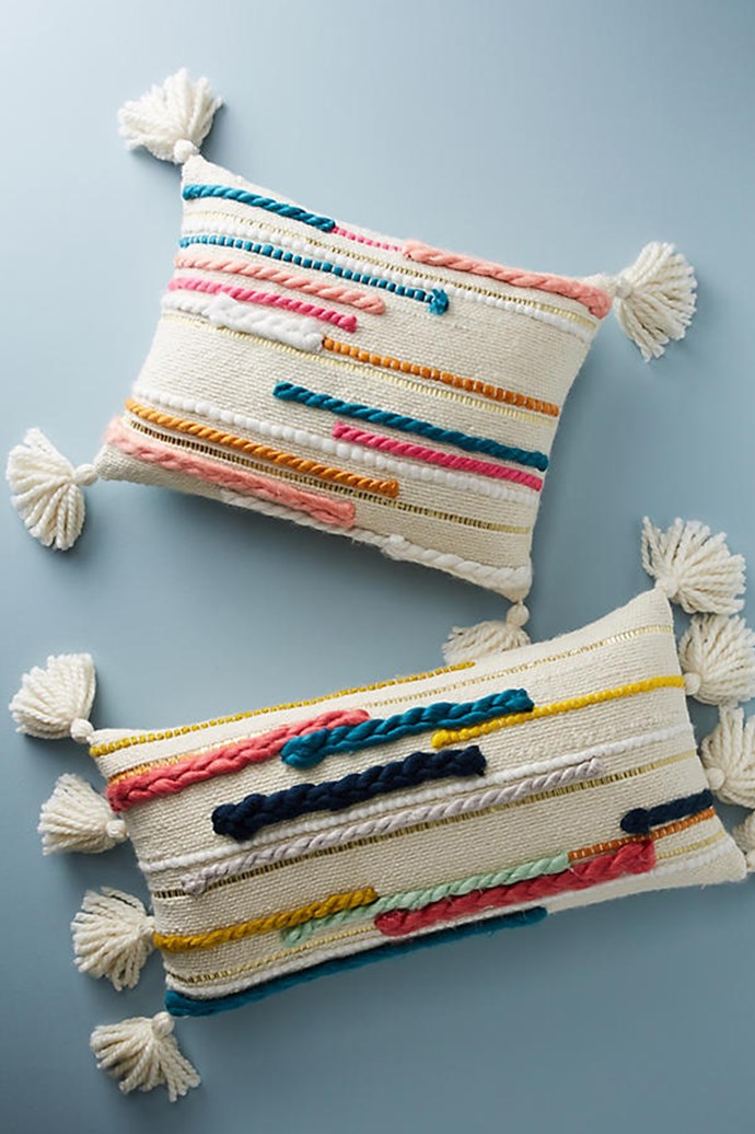 The Constant Decorator: For cultivated individuals inclined to restyle their home according to the season, these delightful pillows by textile designer Erin Barrett for Anthropologie are just the trick. Woven Day Dream Pillows; [anthropologie.com](https://www.anthropologie.com/)