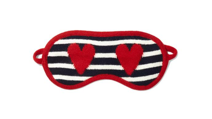 The Avid Adventurer This whimsical eye mask boasts stripes, red hearts, and cashmere for extra warmth. Long haul travel has rarely been so cosy. Chinti & Parker eye mask; [net-a-porter.com](https://www.net-a-porter.com/au/en/)