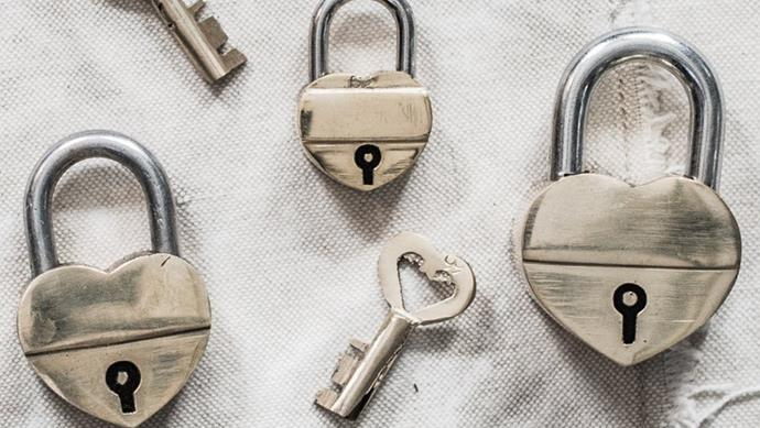 The Hopeless Romantic Heart-shaped locks are a quixotic way to show someone what they mean to you or a quirky decorative accessory. Silver and brass locks; [thelostandfounddepartment.com.au](https://www.thelostandfounddepartment.com.au/)